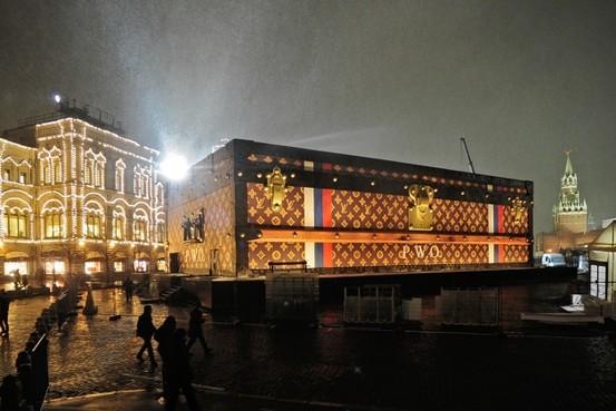 Louis Vuitton installazione Piazza Rossa, Mosca (Novembre 2013)