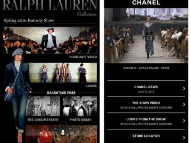 Ralph Lauren e Chanel Mobile website