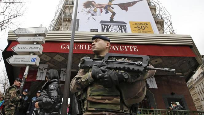 Galeries lafayette saldi sicurezza attentati