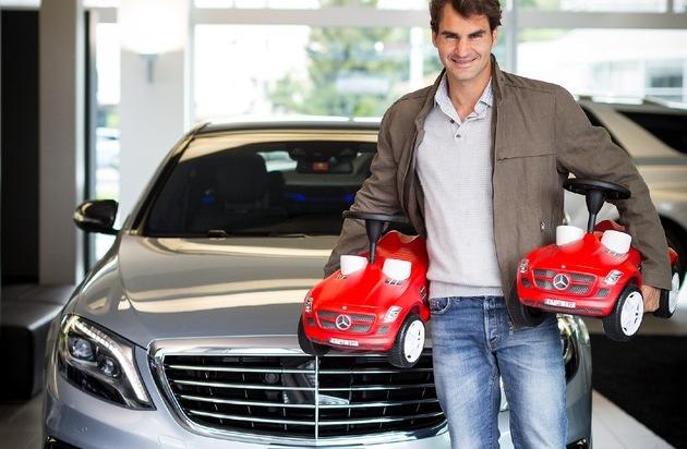 Roger Federer testimonial Mercedes in Svizzera