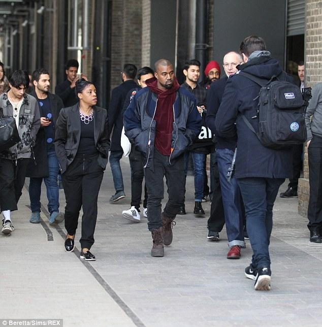 Kanye West al Central Saint Martins college Londra