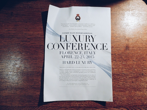 Conde Nast Luxury Conceference Firenze tema e-commerce