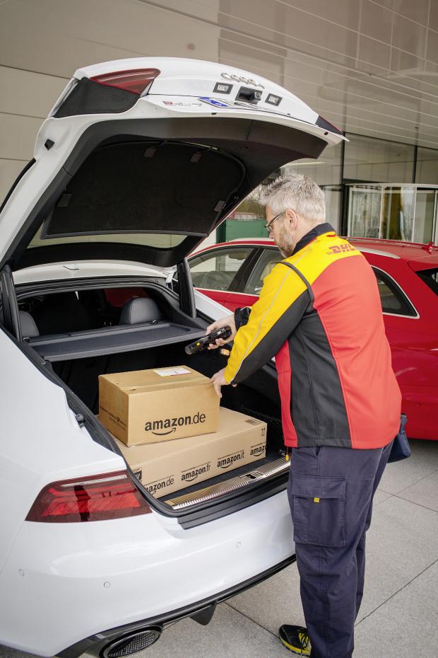 Audi Amazon e DHL insieme per l'e-commerce