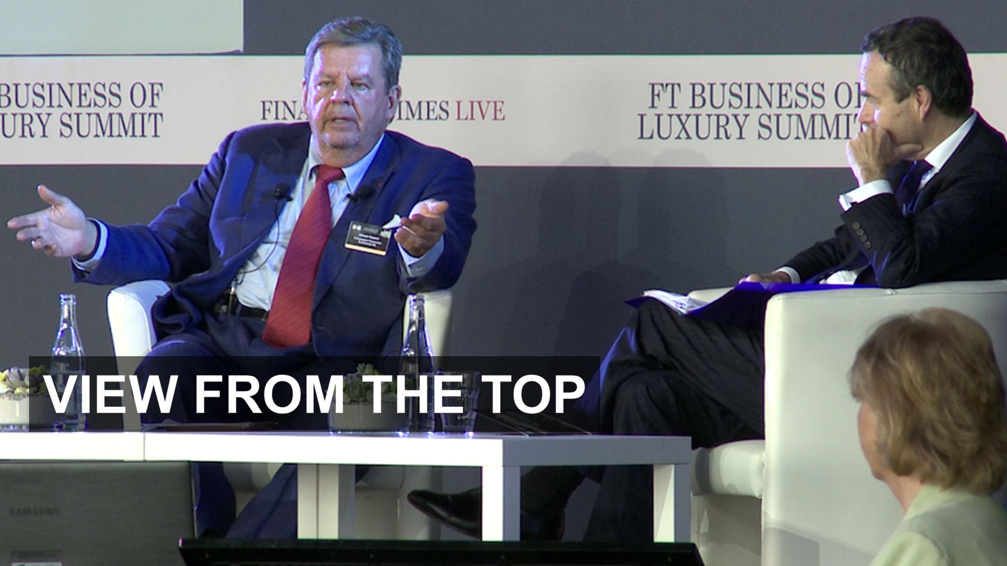 Johann Rupert Financial Times Business of Luxury summit