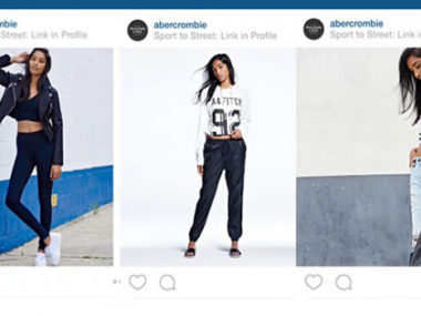 abercrombie athleisure instagram campaign