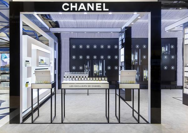 Chanel Barcelona Duty Free fragrance corner