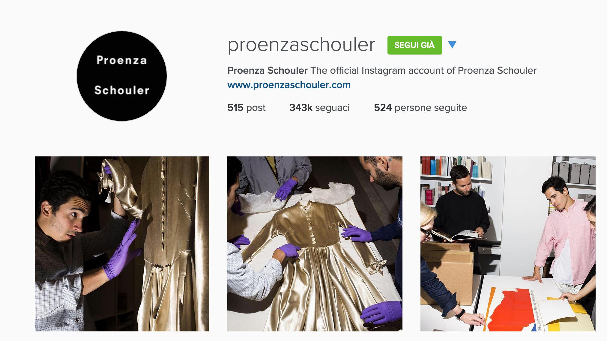 proenza schouler instagram account
