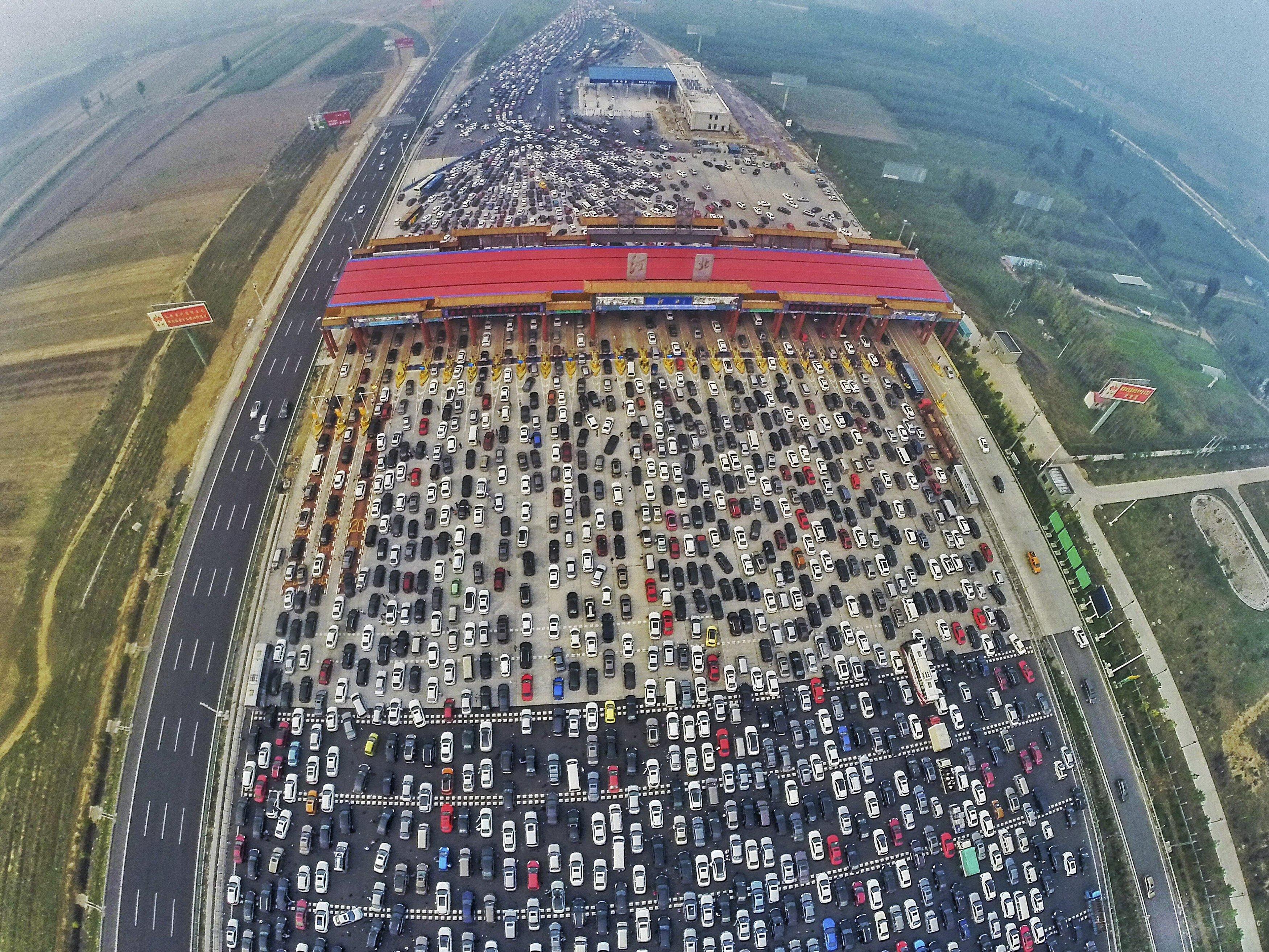 Golden Week Cina ingorgo stradale record
