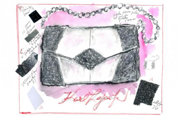 Karl Lagerfeld Sketch