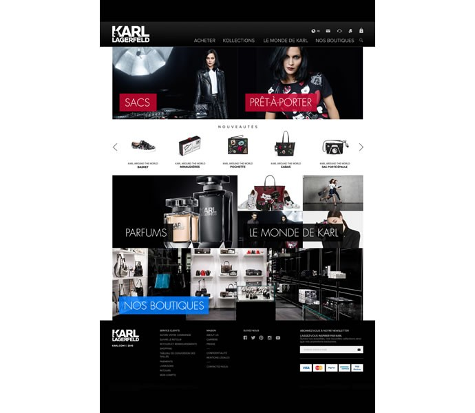 Karl Lagerfeld ecommerce