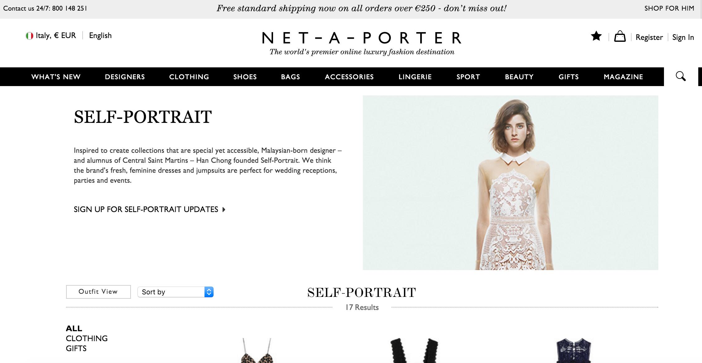 Self-portrait Net-a-Porter