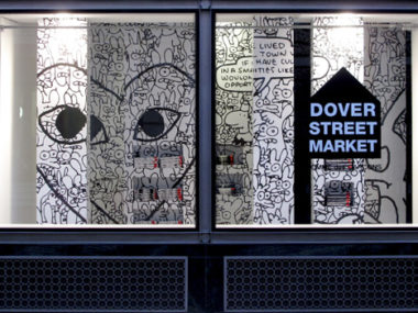 Dover Stret Market London vetrina londra