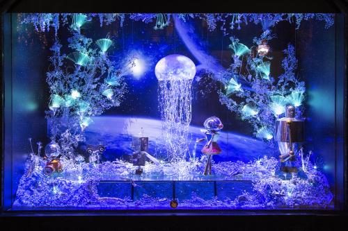 Galeries Lafayette Vitrines Noel d'Une Autre Planete