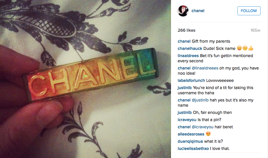 @chanel instagram profile