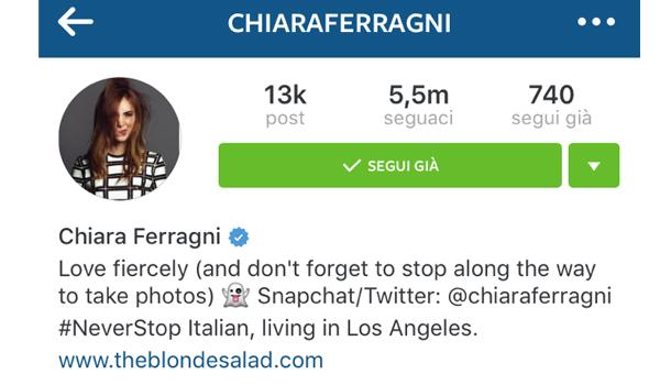 Chiara ferragni blogger instagram