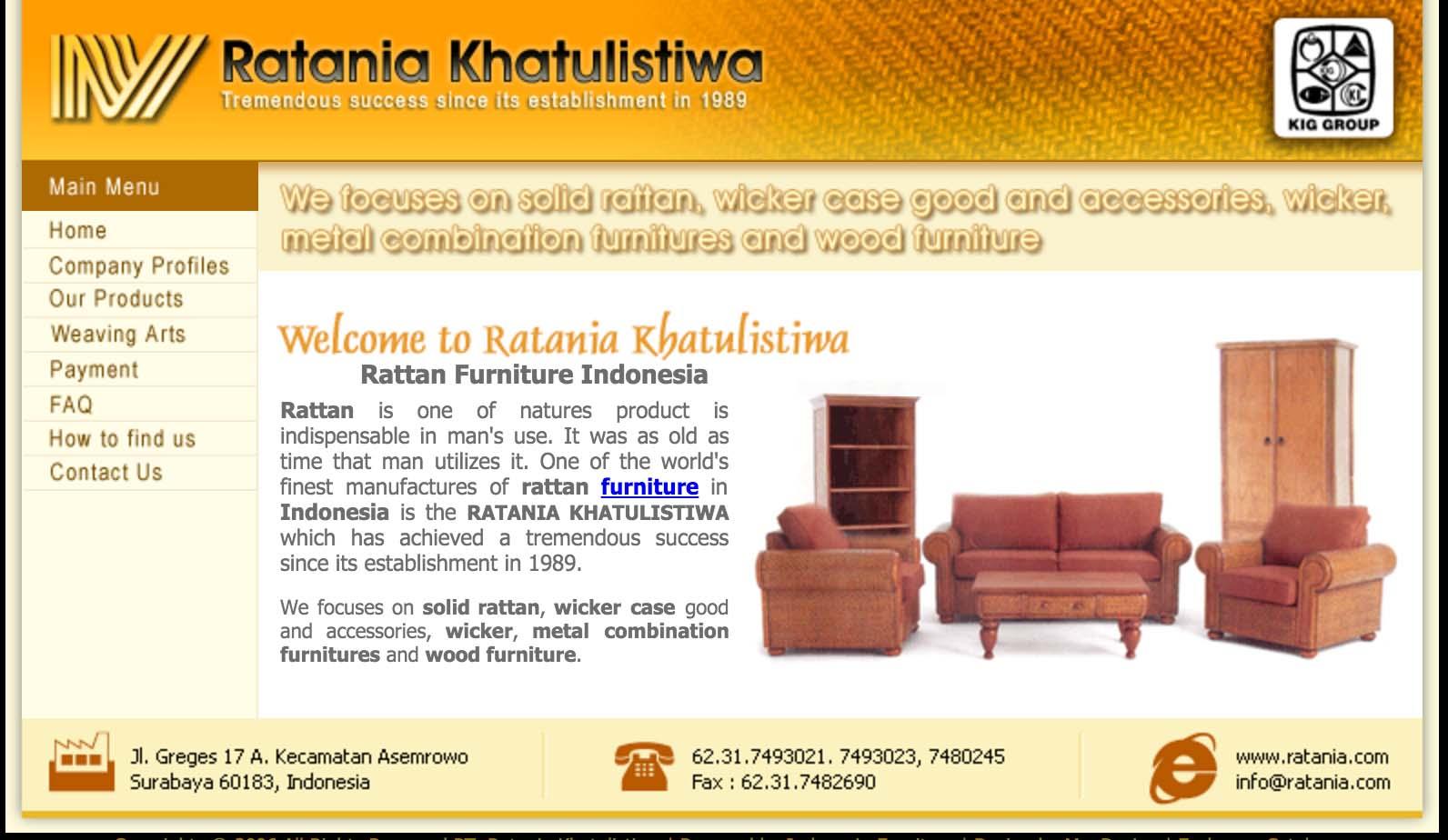 PT Ratania Khatulistiwa titolare del brand IKEA in Indonesia