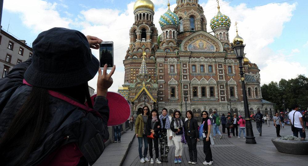 Turisti cinesi Mosca