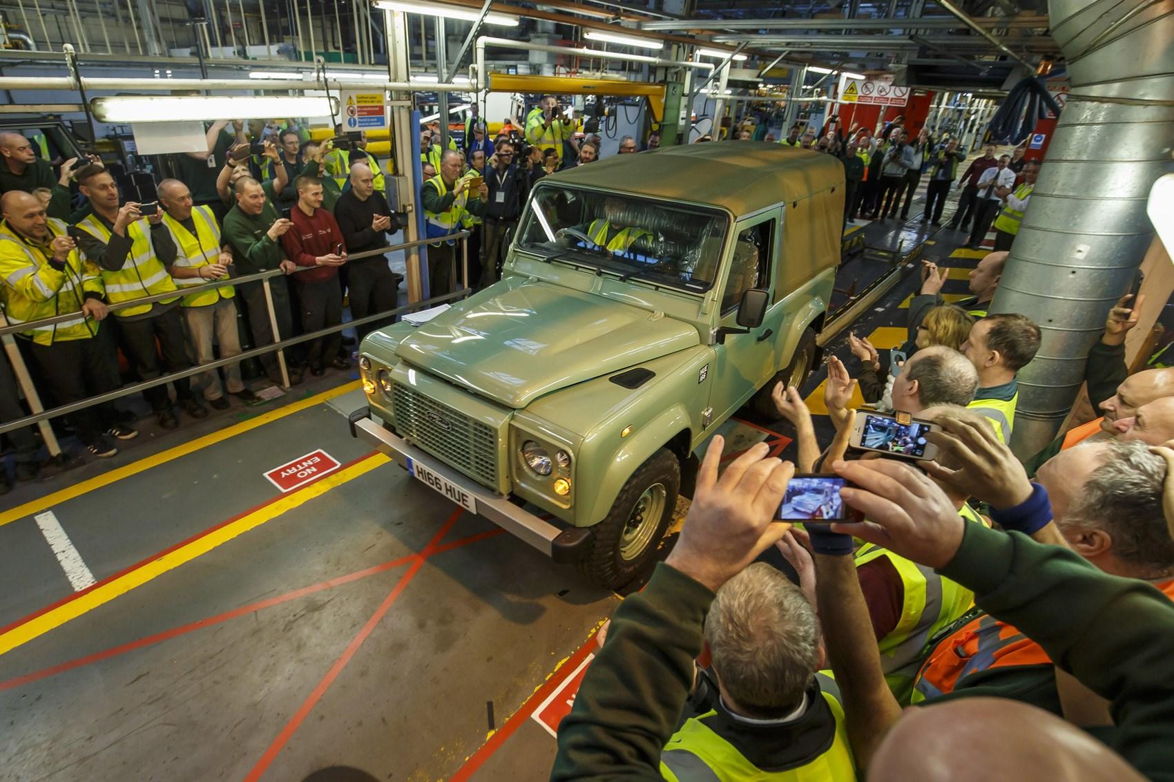 Ultimo esemplare Land Rover Defender