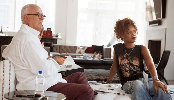 Manolo Blanhik Rihanna per Vogue