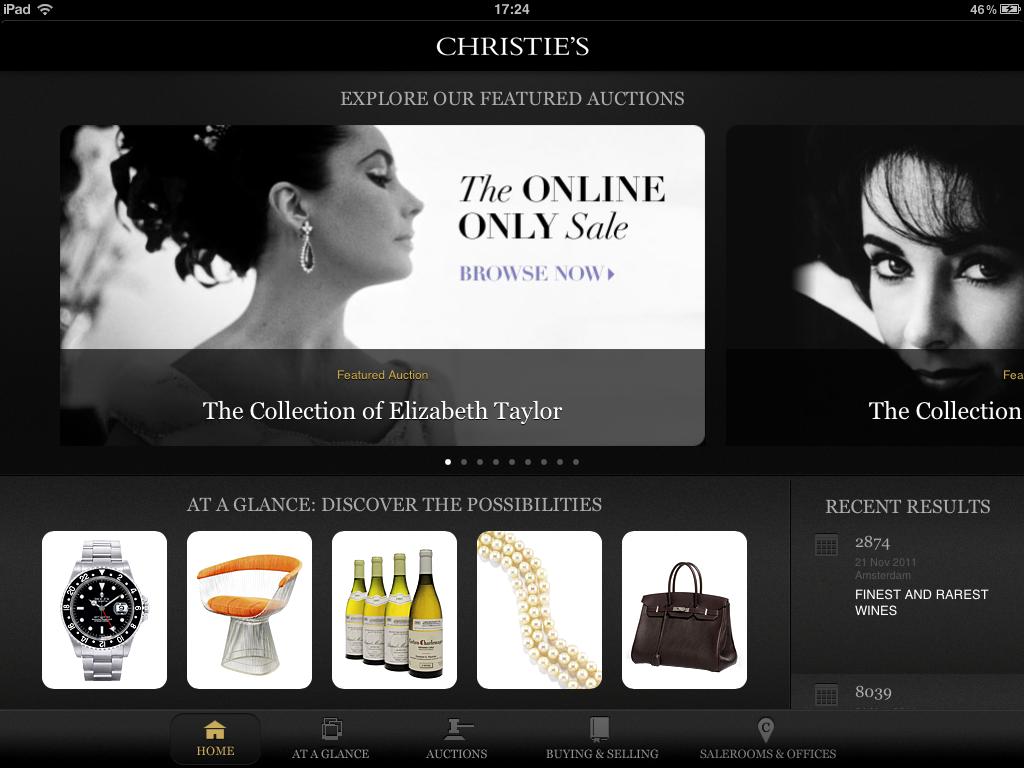 Christie's app
