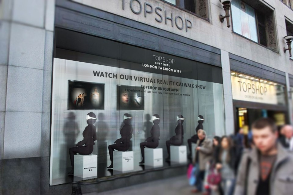 TopShop virtual catwalk