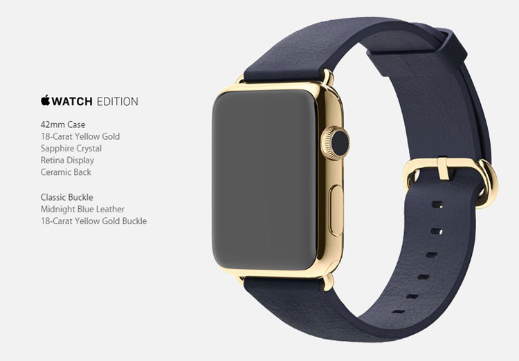 Apple Watch edition gold 2015