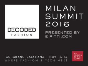 Decoded Fashion 2016 Milano partner di e-Pitti