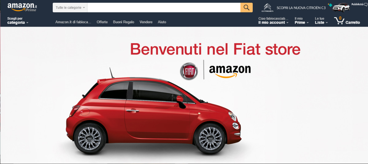 Fiat Amazon e-commerce auto online