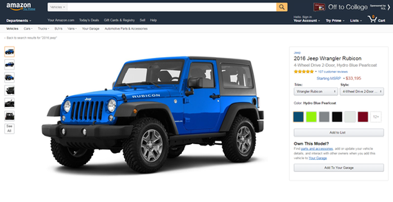 Amazon Vehicles Stati Uniti